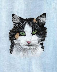 acrylic cat portraits